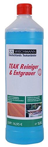 Teak-Entgrauer & Reiniger empfohlen von Deutschlands Teakanbieter Kai Wiechmann, Teakpflege, 1...