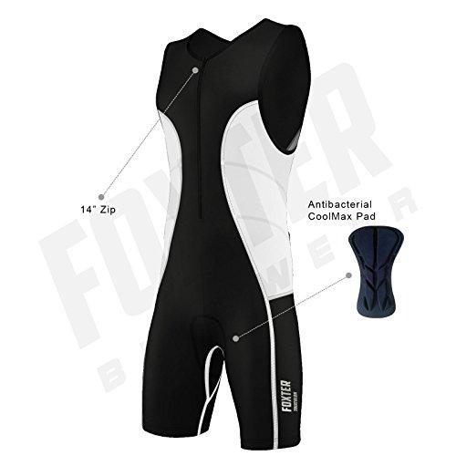 Triathlon-Anzug für Herren, Kompressionsanzug, weiß, M