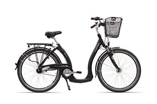 """Hawk Unisex- Erwachsene City Comfort Plus Cityräder 26"""" 7-G schwarz, Korb, Zoll"""