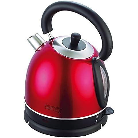 Camry CR1240r - Hervidor de agua, 1800 W, color rojo