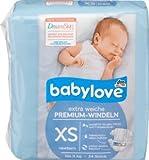 babylove Windeln Premium extra weich Größe XS