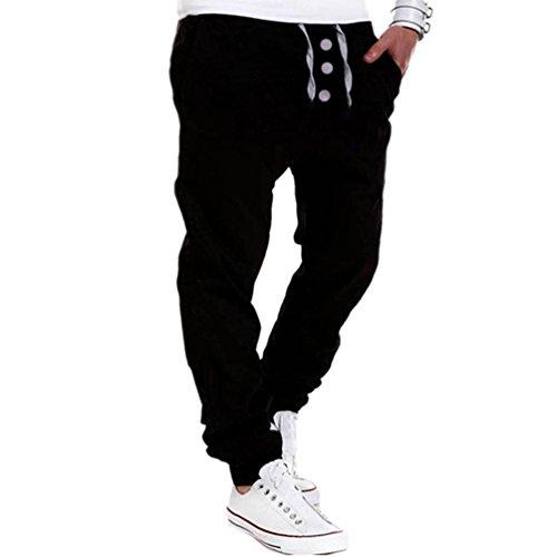 ❤️Pantalons Homme, Amlaiworld Hommes Pantalons Longs Lâches Pantalons de Jogging Sarouel Jogging Occasionnel Danse Sportwear Pantalons Baggy (XL, Noir)