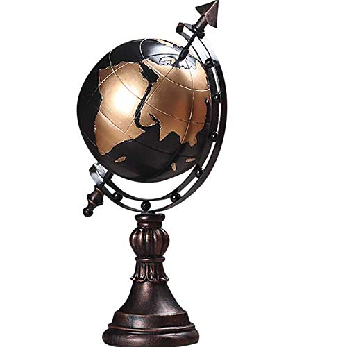 LPRWEC Bronze Harz kreative Skulptur Retro drehbaren Globus Handgemachte abstrakte Statue Innenministerium Dekor-Raum-Kabinett Handwerk Kunst Ornamente Skulptur Durable Skulptur Geschenk - Adler-raum-dekor