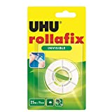 UHU Klebefilm rollafix invisible, 19 mm x 25 m