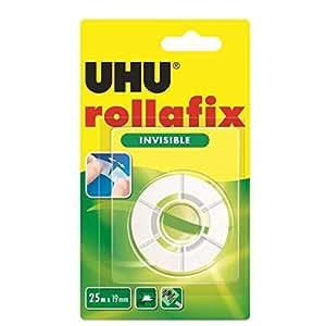 UHU Ruban adhésif rollafix invisible, 19 mm x 25 m