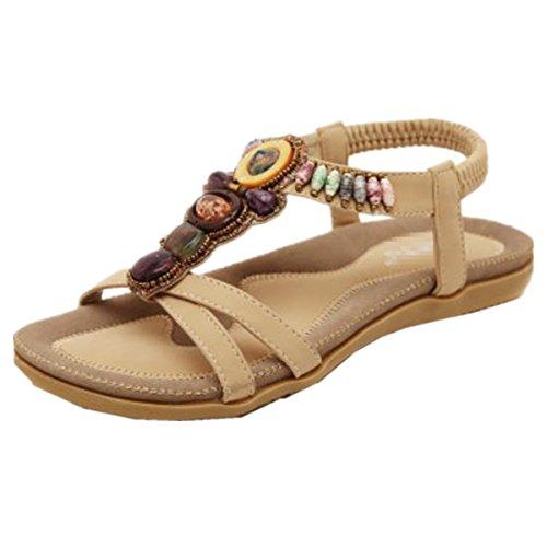 Sandals Damen Sandalen, Pink - Aprikose - Größe: 45 EU