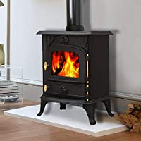 Lincsfire Saxilby JA013 6.5KW Multifuel Woodburning Stove Wood Burner Log Burning Fire Fireplace Cast Iron Woodburner 2