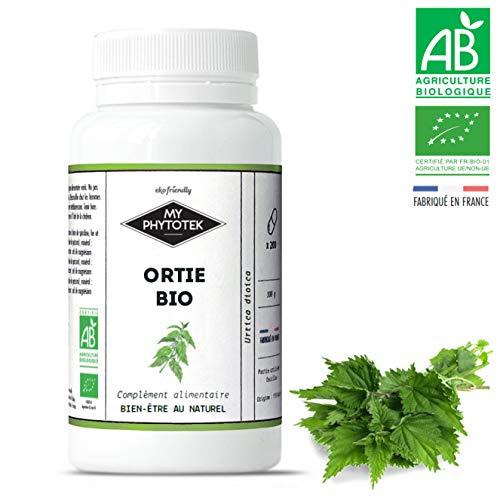 Brennnessel, Bio, 200 Kapseln (210 mg)