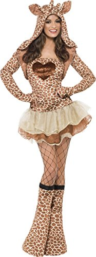 Giraffe Damenkostüm braun-beige M (Giraffe Kostüm Make Up)
