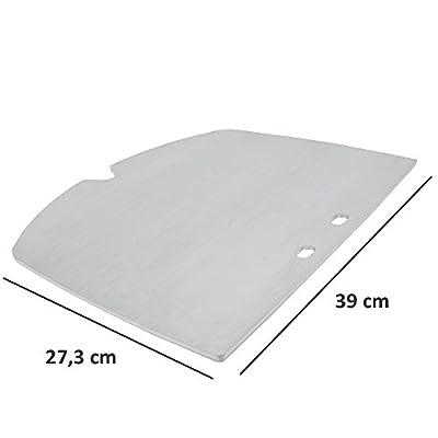 BBQ-TORO Edelstahl Grillplatte passend für Weber Q200 - Serie Elektrogrill und Gasgrill | passt exakt zu Q2000 - Q2200 - Q2400