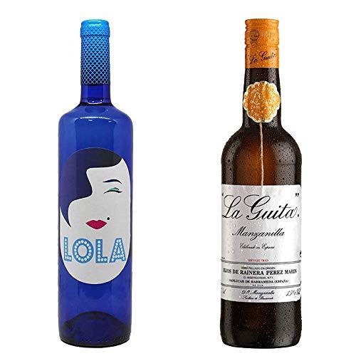 Lola Blanco Semidulce Y Manzanilla La Guita - D. O. Campo De Borja Y D. O. Manzanilla De Sanlúcar De Barrameda - 2 Botellas De 750 Ml