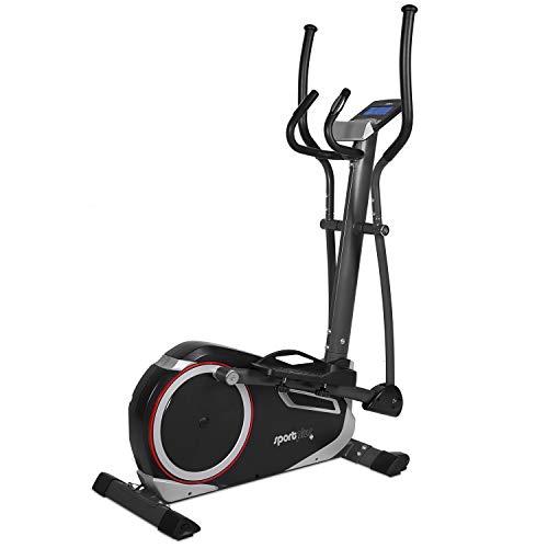 SportPlus SP-ET-9600-iE Bicicleta Elíptica con Aplicación para Smartphone, 24 Niveles de Resistencia, Sensores de Pulso Manual, Peso del Usuario 150 kg, Adultos Unisex, 120 x 62 x 160 cm