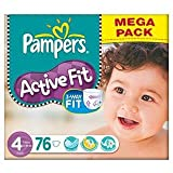 Pampers Active Fit Size 4 (7-18kg) Mega Box Maxi x 76 per pack