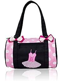 DANCE YOU Tanztasche Balletttasche Sporttasche Umhängetasche Trainingstasche Schultertasche Handtasche für Mädchen 28 * 17 * 17cm