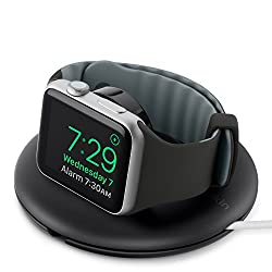 Belkin Compact Travel Stand Charger for 38 mm and 42 mm Apple Watch with Nightstand Mode - Black