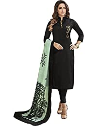 Style New Black Heavy Jam Cotton With Designer Hand Work Long Stitched Suit