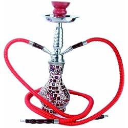 Shisha marca Mysale24 de 38 cm, color rojo.