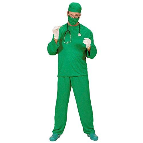 Kittel Op Kostüm Grüne Und - Arzt Kostüm Herren Chirurg OP Kittel XL (54) Doktor Herrenkostüm Fasching Krankenpfleger Arztkostüm Faschingskostüm Scrubs Karnevalskostüm Berufe Mottoparty Verkleidung Karneval Kostüme Männer