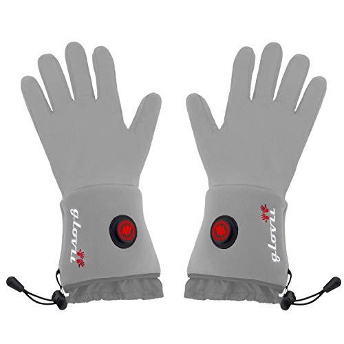 Glovii Akku Beheizte Handschuhe, Universal Unterzieh Handschuhe, Thermoaktive Handschuhe, Größen: XXS-XS, S-M, L-XL (M)