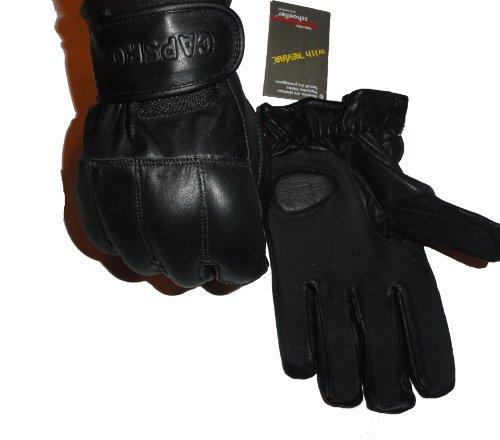 Guanti di Cuoio Nero premium Sabbia e Kevlar - Protezione di Sicurezza - Nero, 2XL