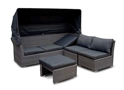 osoltus Strandkorb Cabrio Lounge Sofa 2er oder 3er (3er, Grau)