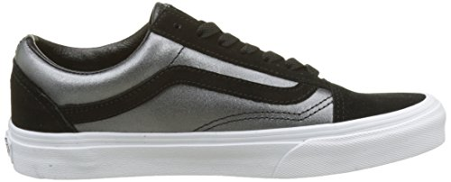 Vans Old Skool Leather, Sneaker Donna Nero (2-tone Metallic/ Black/true White)