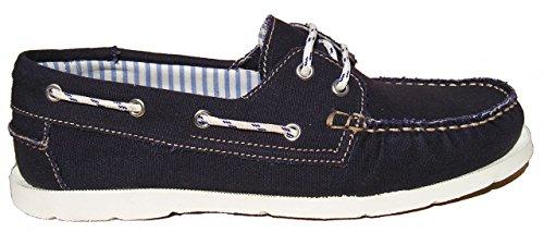 BluePort Herren Canvas Bootsschuh Vermont, Größe:42 EU, Farbe:navyblau