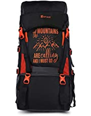 Impulse Waterproof Travelling Trekking Hiking Camping Bag Backpack Series 55 litres Orange Mt Calling Rucksack