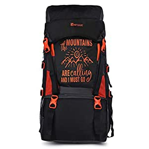 Impulse Waterproof Travelling Trekking Hiking Camping Bag Backpack Series 55 litres Orange Mt Calling Rucksack