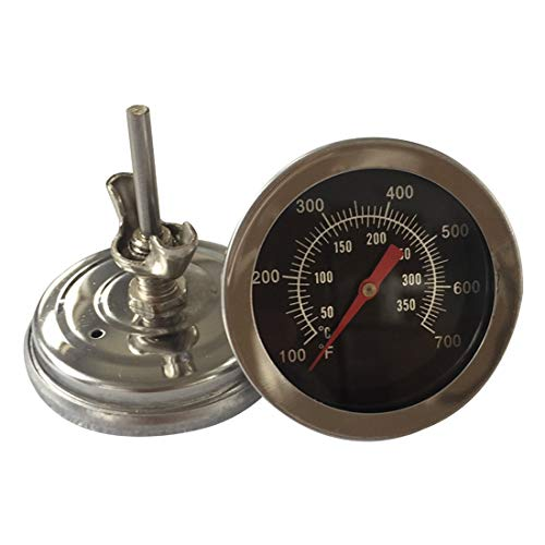 TEN-G Stainless Steel Grill Meat Thermometer BBQ Dial Temperature Probe Gauge Gage Cooking Food Household Kitchen Tools Dial Meat Thermometer