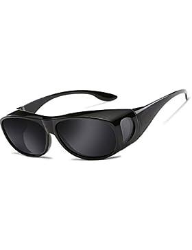 Gafas de sol deportivas polarizadas UV400,Gafas de Sol Para Colocar Sobre las Gafas Normales y de Lectura Hombre...