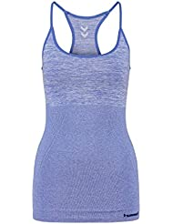 Hummel – Top Carrie Donna Seamless, Donna, Top Carrie Seamless, Dazzling Blue Melange, XS / S