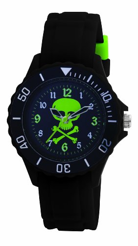 Tikkers Boys Black Rubber Strap Watch TK0031