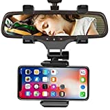 MODERN IN Universal Car Rearview Rear View Mirror Mount Phone Holder 360 Degrees Phone Holder Stands for Car