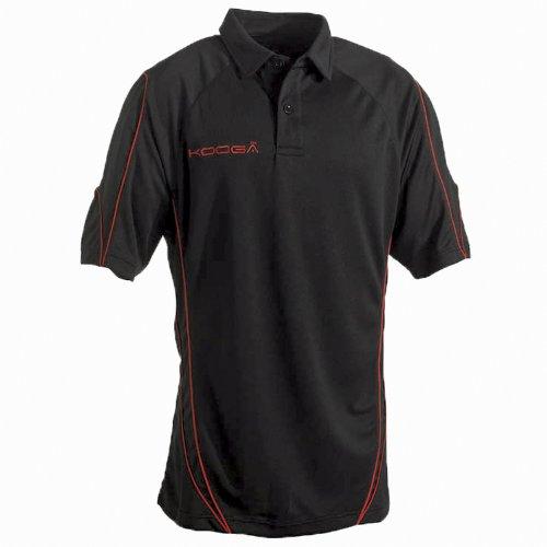 KooGa Pro Technologie Teamwear Polo-Shirt Black/Red
