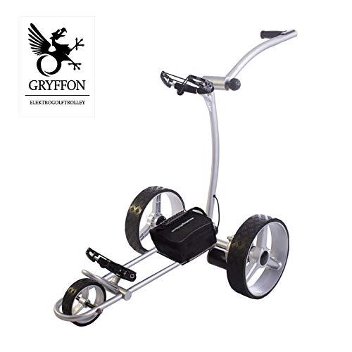 GRYFFON Elektro Golf Trolley Basic Silber mit Blei Akku/Elektro Caddy Golf/Elektro Trolley X2-GTS -