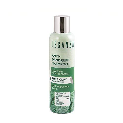 Leganza Anti Dandruff Shampoo with Clay and Zinc Pyrithione No Sulphates and Parabens for All Types of Hair