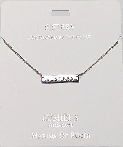 Schwestern benannt lumeila Halskette Marina de Buchi Silber Farbe von Sterling effectz