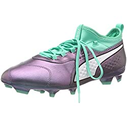 Puma One 3 Il Lth Fg, Scarpe da Calcio Uomo, Viola (Color Shift-Biscay Green White Black 01), 40 EU