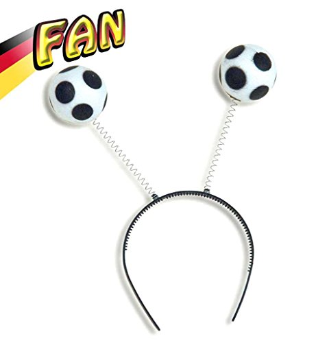 Fußball Wabbles Haarreif Deutschland Fußball Fanmeile Publicviewing Fanartikel Wackeleffekt Fan WM EM (Fußball Spieler Kostüm Frauen)