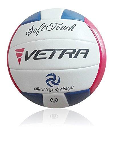 Vetra Volleybälle weich berühren Bälle Größe 5 officially Strand im Freien Innen Sporthalle Spiel New (Blau/Rot/Weiß)
