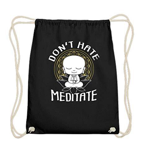 Meditation Buddha T-shirt zum Meditieren OM Yoga Zen Geschenkidee Buddhismus Chakra Spruch - Baumwoll Gymsac