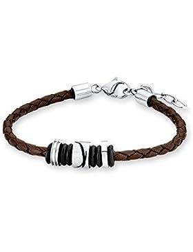 s.Oliver Kinder-Armband Edelstahl Leder - 522571