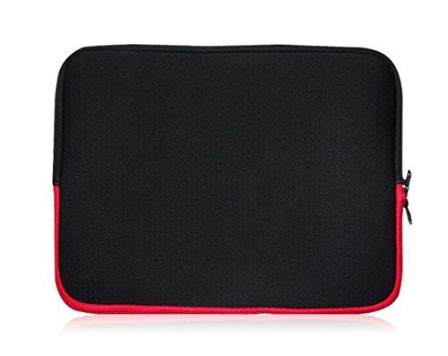 Sweet Tech Noir / Rouge Néoprène Housse Coque adapté pour Archos 121 Neon Tablette 12 Pouces ( 11.6 - 12.5 Pouces Tablette )