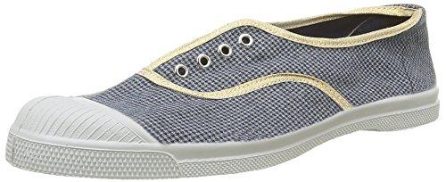 BensimonTennis Elly  Checks - Sneaker Donna , Blu (Bleu(9985 Pied De Puce)), 40