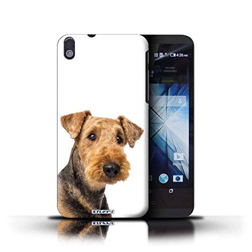 Kobalt® Imprimé Etui / Coque pour HTC Desire 816 / Cocker Spaniel conception / Série Chiens Airedale Terrier