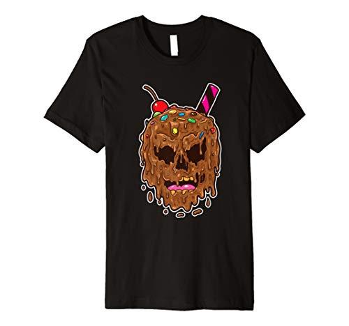 (Zombie Scary Halloween Eis Gesicht Schädel)