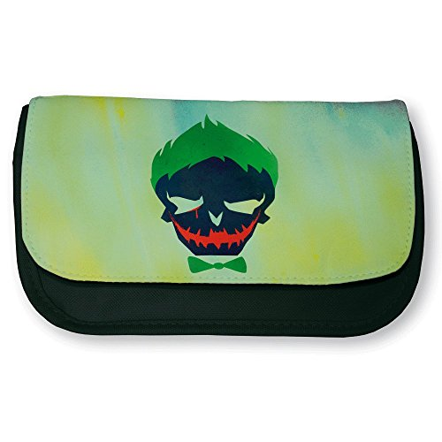 Trousse noire de maquillage ou d'école Joker Suicid Squad Color pop - Fabriqué en France - Chamalow shop
