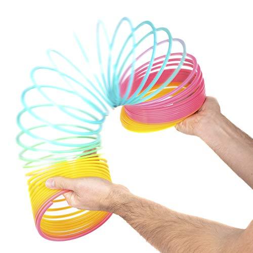 ABeeC Mega Slinky Toy - Rainbow Spring - Fidget Toy, Birthday Present, Christmas Stocking Filler, Easter Present, Party Favour.