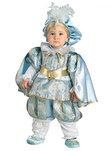 Premium Königs-Kostüm für Babys mit Umhang, Krone und Füßlinge | Hochwertiges Karnevals-Kostüm / Faschings-Kostüm / Kleinkindkostüm | Perfekte Prinzen Verkleidung für Karneval, Fasching, Fastnacht (Größe: (Prinz Kleiner Ideen Kostüm)
